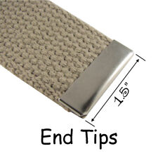 25 Metal Belt Buckle End Tips for Cotton Webbing - 1.5 Inch - Nickel Plated