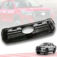 FRONT GRILLE GRILL GLOSS BLACK+GREY OEM GENUINE FOR TOYOTA HILUX REVO ROCCO 2018