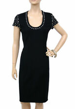 $2525 NEW VERSACE COUTURE BLACK STUDDED DRESS 40 - 6