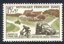 France 1958 Post/Mail/Motorbike/Car/Bike/Postal Transport/Motorcycle 1v (n23236)