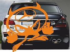 Aufkleber Teufel Mercedes 001