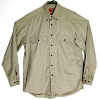 R.M.Williams Khaki Long Sleeved Shirt Size S Relaxed Fit 100% Cotton