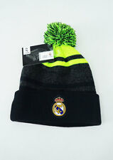 Real Madrid POM Soccer BEANIE Sports Cap Knit Hat Gray New