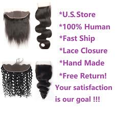 Lace Closure 4x4 13x4 Brazilian Virgin Human Hair 8A & 9A cuticle aligned