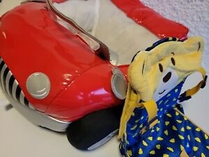 Build a Bear Red Sports Car and Car Seat GUC Bundle