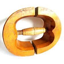 Antique Adjustable Wooden Hat Stretcher Extender~Shaper Solid Wood 6 7/8 FREE SH