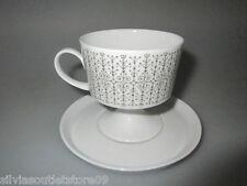 Kaffeetasse mit Untertasse Rosenthal Composition Secunda grau Tapio Wirkkala 70s