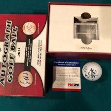 2012 Leaf Autograph Golf Ball PSA/DNA PGA Charley Hoffman Signed