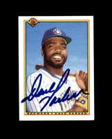 Dave Parker Hand Signed 1990 Bowman Milwaukee Brewers Autograph