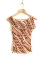 BETTINA LIANO!!! Delicate 'Bettina Liano' striped sheer silk top