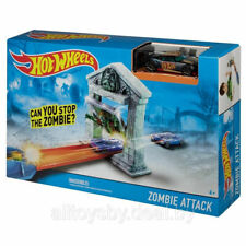 Hot Wheels Track Zombie Attack Card Flipper Playset Die Cast Car Kids Toys Gift