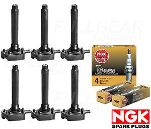 NGK G-POWER PLATINUM SPARK PLUG + ENGINE IGNITION COIL FOR DODGE CHARGER 3.6L V6