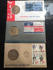 Bicentennial first day covers collection with coin and inserts.