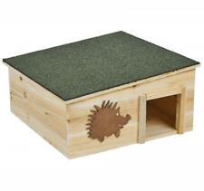 More details for wooden garden hedgehog nesting house box with bitumen roof