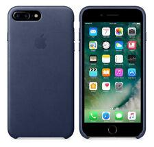 Original Apple Case iPhone 7 Plus / 8 Plus Leder Handy Cover Midnight Blue OVP