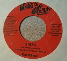 """FIVE MAN ELECTRICAL BAND / TOMMY JONES ~ Rare Promo Radio Show 45 rpm 7"""""""