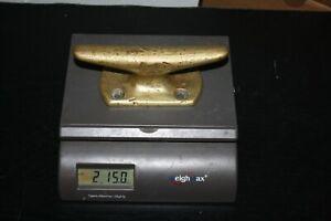 "Vintage Brass Ship / Boat Cleat 7"", Solid Brass, 2lbs. 15oz., Estate Sale Find"