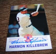 Rare 1999 Cambell's soup MLBPA signed autograph Harmon Killebrew card.