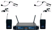 Vocopro UDH-DUAL-B 2 CH. UHF DSP HEADSET LAVALIER WIRELESS MICROPHONE SYSTEM