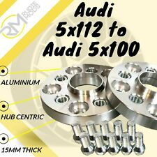 Audi CAR 5x112 57.1 to Audi 5x100 15mm Hubcentric PCD Adaptors - Steel Inserts