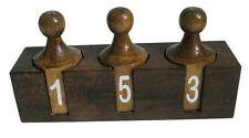 Marine WOODEN Number Rout Box - TEAK Wood - 100% SATISFACTION