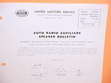 1951 1952 CADILLAC CHEVROLET BELAIR DELCO RADIO REAR SEAT SPEAKER SERVICE MANUAL