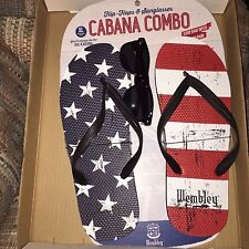 Wembley Flip-Flops & Sunglasses Cabana Combo Size 13/14 XL NEW WITH TAGS