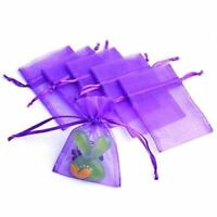 100 Pcs Organza Wedding Favour Bags Jewellery Pouches Green T1
