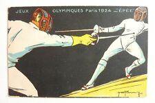 CPA - JEUX OLYMPIQUES PARIS 1924 - L'ÉPÉE Réf/ E /07