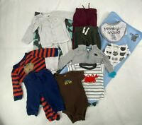 Lot Of Baby Infant Boy Clothes bibs Carseat Cover Blanket 3-6 Months Mixed Brand