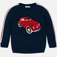 Mayoral Boys Jumper with Car Design In Navy (40312) Aged 2-8Yrs