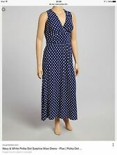 Polyester Spotted Long Plus Size Dresses for Women