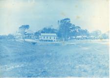 Angleterre, Maisons à Southport, ca.1890, Vintage cyanotype print Vintage cyanot