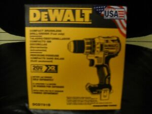 "Dewalt DCD791B 20 Volt Max Lithium-Ion 1/2"" Brushless Drill Driver NEW IN BOX"