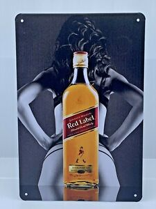 Johnnie Walker Red Label Metal Tin Sign 12in x 8in