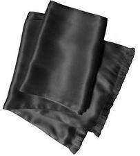 Charcoal Grey Silk Aviator Scarf for Men - 2-Layered Satin Silk by Royal Silk®