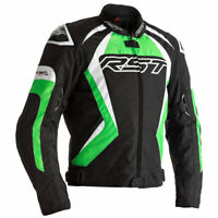 RST Tractech Evo 4 CE Motorbike Motorcycle Textile Jacket Black / Green / White