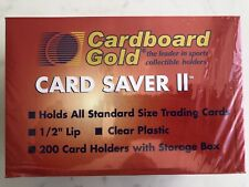 Cardboard Gold PSA Graded Card Saver 2 - 50, 100 & 200 Count Holders Brand New