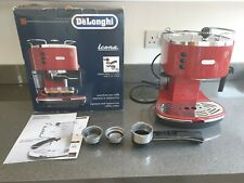 In scatola DELONGHI Espresso Maker Macchina Da Caffè Icona ECO 310 rosso con le istruzioni