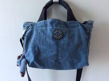 KIPLING ladies small blue tote handbag with shoulder strap and monkey
