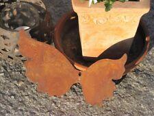 Edelrost Engelsflügel seitlich breit mit Loch Metall Dekoengel Rostengel