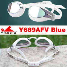 2019 NEW YINGFA Y689AFV BLUE SWIMMING GOGGLES ANTI-FOG UV PROTECTION [FREE SHIP]