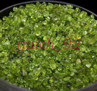 100g Natural Peridot Raw Ore Crushed Quartz Gravel Crystal Stone Degaussing #92