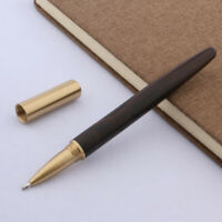 Writing black wood pattern golden Trim metal gift Rollerball Pen