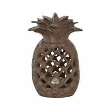 Fallen Fruits Cast Iron Pineapple Indoor/Outdoor Tealight Candle Holder Lantern