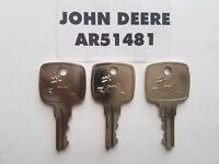 (3) John Deere Ignition Keys 955 4200 4300 4400 4500 4600 4700 5200 5300 5400