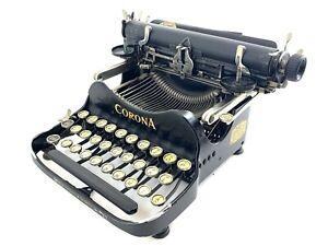 1919 CORONA No.3 FOLDING TYPEWRITER Schreibmaschine Machine a Ecrire Antique