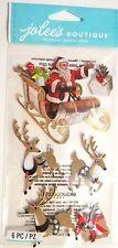 Jolee's Santa Claus Sleigh & Reindeer Christmas Toy Bag Jolee's 3D Sticker