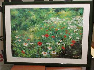 Bel Quadro dipinto floreale olio ROSARIO BELLANTE 74x54 cm