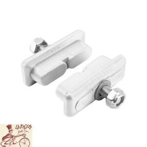 KOOLSTOP CONTINENTAL WHITE THREADED BRAKE PADS-FOR SKYWAY-ACS MAG WHEELS